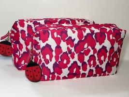 2pc Estée Lauder Fabric Makeup Bag with Lady Bug Charms - $8.25