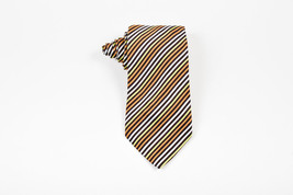 MENS Gucci Orange Green White Silk Striped Tie - £35.25 GBP