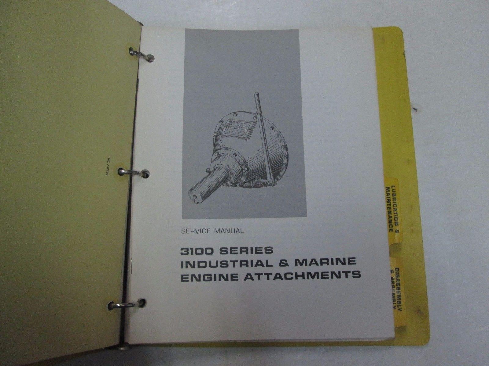 ... Caterpillar 3145 3150 3160 Industrial Marine Engine BINDER STAINED  FACTORY OEM ...