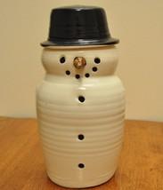 Ceramic Snowman Candle Lantern/illuminator - $20.00