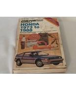 Chilton Honda 1973 to 1988 Repair Manual 20851 - $13.99