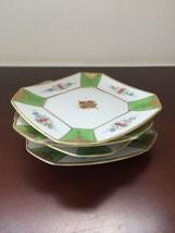 Occupied Japan Dessert Plates Gilt Floral  Hand Painted Japan Porcelain ... - $36.26