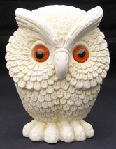 """Whimsical Owl Figurine Made in England 4 1/2"""" Snowy White Statue Paperwe... - $19.99"""