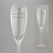 Happy Anniversary Toasting Glass Insignia Brand in Gift Box Forever and Always