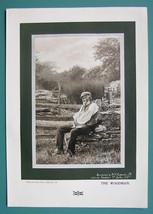 OLD WOODMAN White Beard Resting Pensive - 1901 Offset Litho Print - $6.42