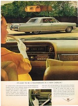 Vintage 1964 Magazine Ad Cadillac Easy To Be A Weatherman In A New Cadillac - $5.93