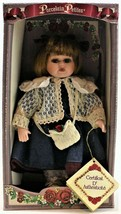 Collectors Choice Porcelain Petites Doll by DanDee Girl with Denim Dress... - $18.80