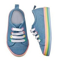 Gymboree Girls Chambray Sneakers 12 1 NWT - $19.99