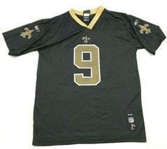 Reebok Drew Brees New Orleans Saints Football Jersey Youth Size XL 18-20 Black - $27.33