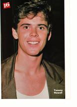 C Thomas Howell Corey Hart teen magazine pinup clippingclose up brown shirt Bop