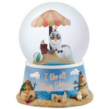 Walt Disney's Frozen Olaf All Warm Things 100mm Water Snow Globe, NEW UN... - $43.53