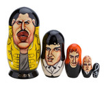 Freddie Mercury Queen gift set of 5 wooden handmade dolls for birthday, box, Boh - £57.85 GBP