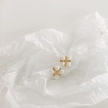 2020 Fashion Small Pearl Jewelry Set Korean Natural Pearl Stud Earrings ... - $12.20