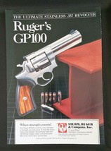 1988 Sturm, Ruger & Company Inc. GP100 Stainless .357 Revolver Ad - $6.64