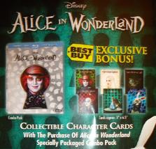 Disney Alice In Wonderland [Blu-Ray+DVD] Best Buy Keyhole Slipcase with cards image 2