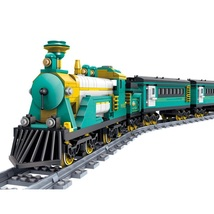 Military Classsic Steam Trains Container Battery Powered Electric Fit Le... - $127.50