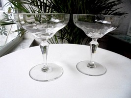 Set of 2 Clear Crystal High Quality Optic Bowl Champagne Glasses - $23.76