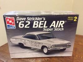 Dave Strickler's '62 BEL AIR Super Stock AMT ERTL 1:25 scale Model Kit ~... - $22.95