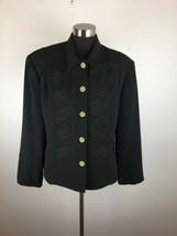 Vintage Howard Wolf Womens Jacket M Medium Black Military Blazer Made in... - $29.69