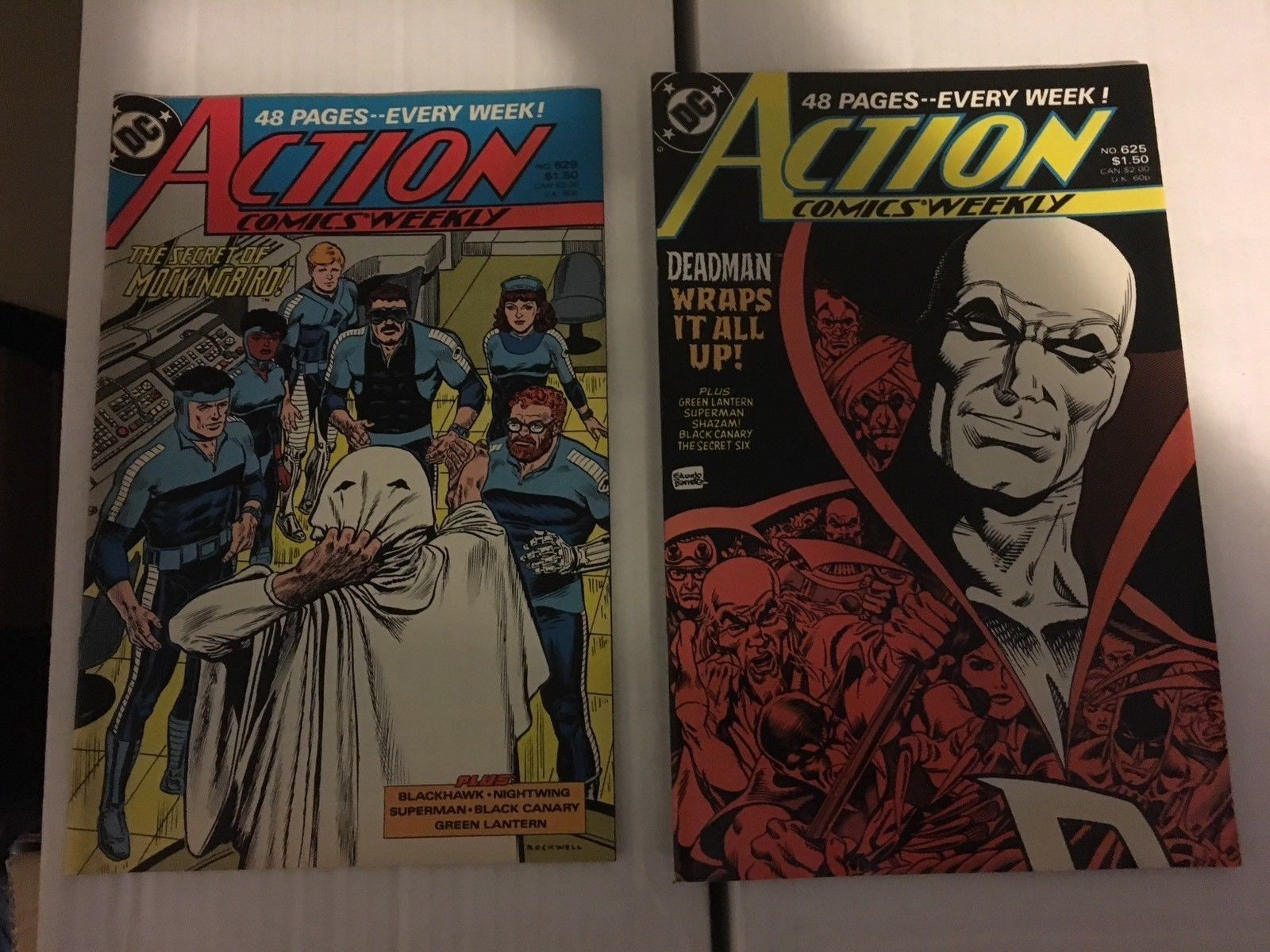 Action Comic #619 - 629 Superman DC Comic Book Lot VF Condition 1988
