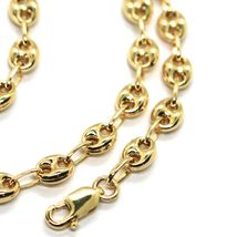 MASSIVE 18K YELLOW GOLD BIG MARINER CHAIN 5 MM, 20 INCHES, ITALY MADE NECKLACE image 4
