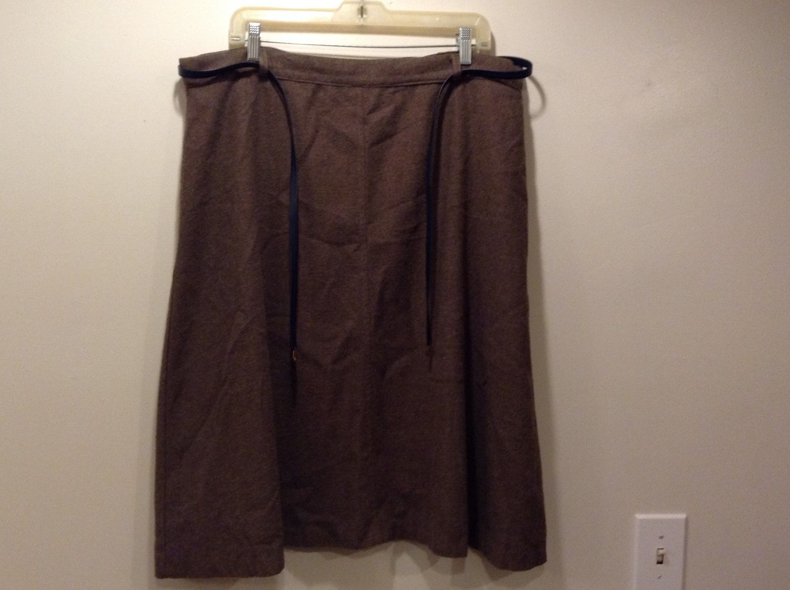 ILGWU Dark Brown Warm Skirt Sz M