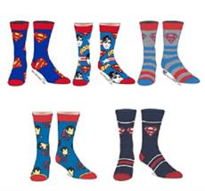 BioWorld DC ComicSuperman Casual Crew Adult 5pk Socks Size 10-13 NIP - $18.00