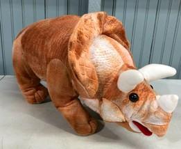 "Goffa Triceratops Dinosaur Plush 24"" Stuffed Animal Horns  - $21.02"