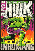 Hulk #1 Marvel Comics 1968 STERANKO COVER G.Friedrich M. Severin INHUMAN... - $132.76