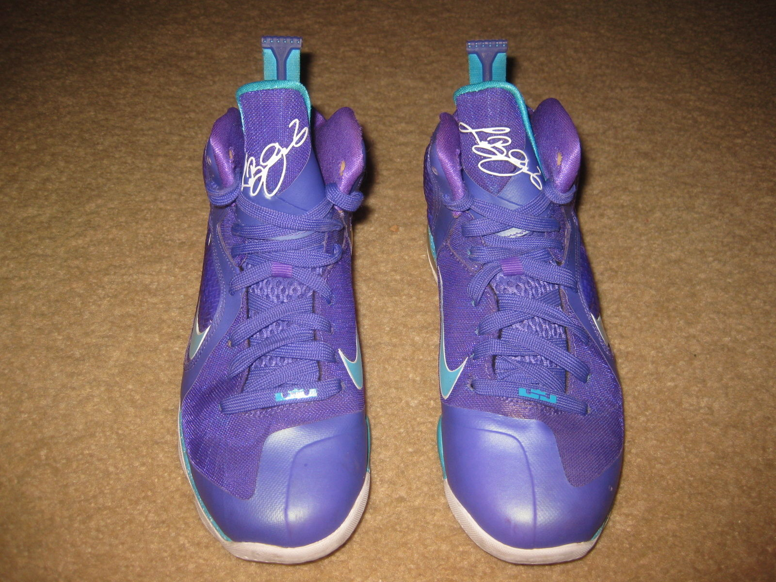 393c49cb852 NIKE LEBRON JAMES 9 GS SUMMIT LAKE HORNETS 472664-500 US SIZE 5Y KIDS NICE
