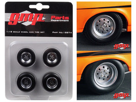 "1968 Chevrolet Nova ""1320 Drag King's"" Wheels and Tires Set of 4 1/18 by... - $28.95"