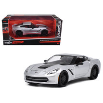 2014 Chevrolet Corvette C7 Stingray Silver \Modern Muscle\ 1/24 Diecast ... - $30.63