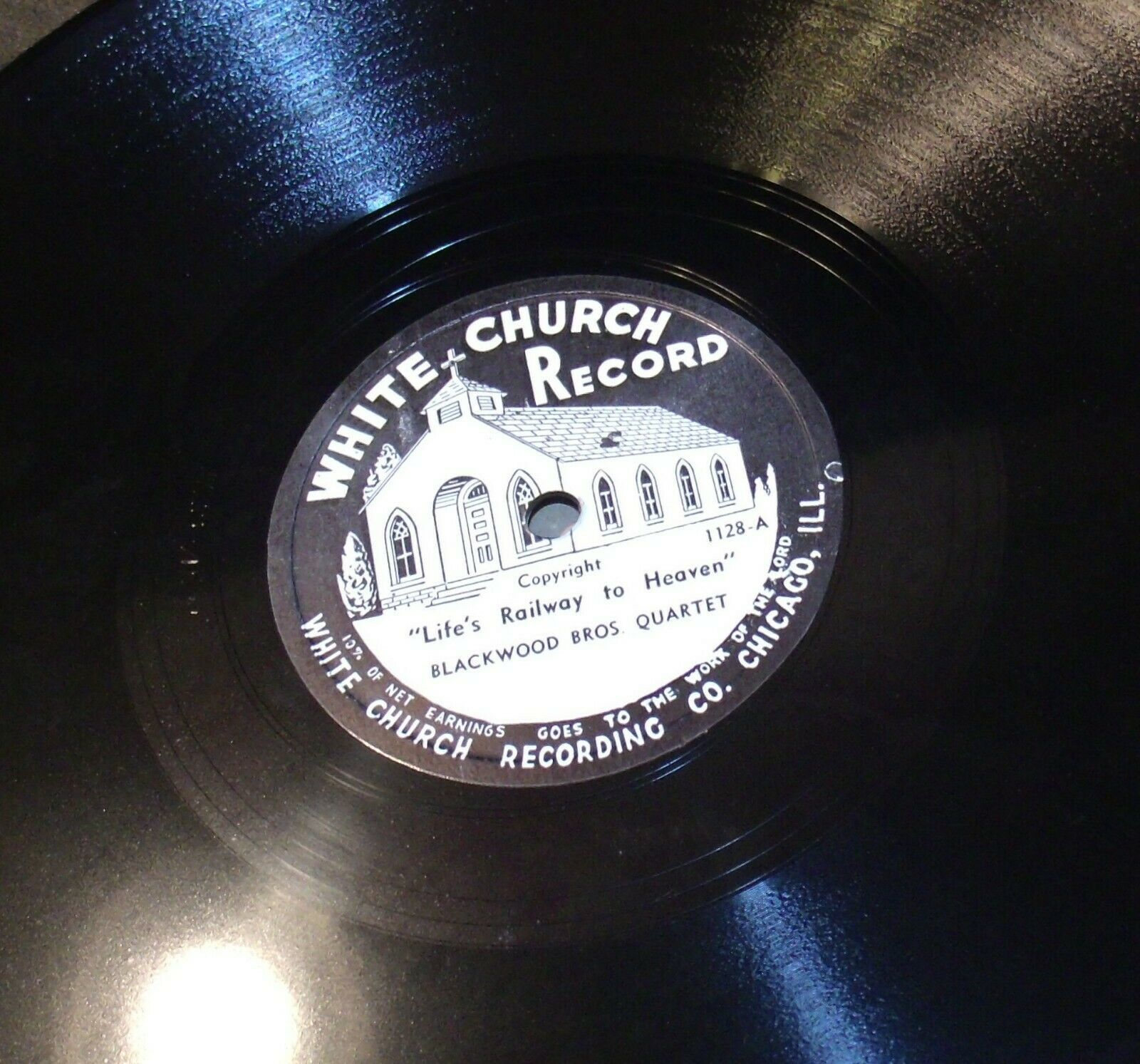 White Church Record # 1128 AA-191720L Vintage Collectible