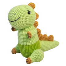 Green Stegosaurus Dinosaur Handmade Amigurumi Stuffed Toy Knit Crochet D... - $27.72
