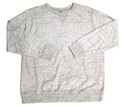 Mens UNIQLO Pullover Athletic Crew Neck Sweatshirt Heathered Gray sz XL - $18.81
