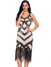 Flapper Girl Women's Vintage Inspired 1920s Art Deco Sequin Fringe Flapp... - $36.97