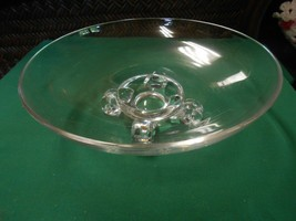 Beautiful Heavy Crystal 4 Leg SERVING DISH BOWL - $12.46