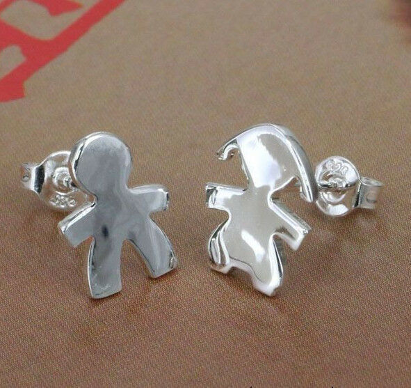 Primary image for Hansel and Gretel Stud Earrings 925 Sterling Silver NEW