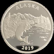 Alaska Mint Sports Fishing 2019 Silver Medallion Proof  .999 Silver 1 Oz - $73.91
