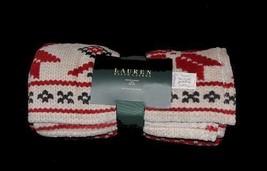 Ralph Lauren POINSETTIA Plush Fleece Throw Blanket NIP DISC HTF Design L... - $38.99