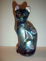 Fenton Glass Favrene Honor Collection Ltd Ed Stylized Cat Kitten Figurine - $125.62