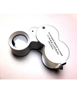 30X Jewelers Illuminated Loupe Magnifier Chrome Plated 20mm Lighted - $9.49