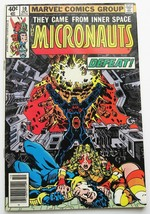 Micronauts #10 Comic Book October 1979 Fine 5.0 Grade Marvel First Series - $2.56