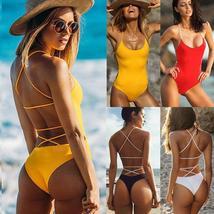 Womens One Piece Monokini Swimsuit Swimwear Beachwear Push Up Bathing Bikini image 4
