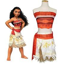 Kids/adults Costume Moana Princess  Dress Cosplay Skirt Clothes Set+neck... - $15.99