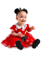 Disney Minnie Mouse Halloween Costume Bodysuit Dress Shoes Baby Red Size... - $64.99