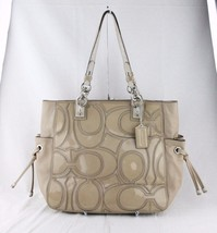 "Coach ""Colette"" Women's Beige Patent Leather To... - $112.19"