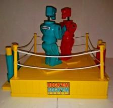 Mattel Rock'Em Sock'Em Robot Boxing Fighting Ring Game Works Great - $16.82