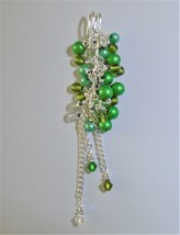 Brooch glass Women's handmade Safety pin brooch Chunky glass Pendant pin... - $20.00