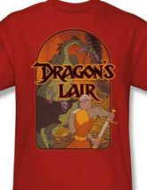 Dragons Lair t-shirt classic arcade video game cartoon graphic tee DRL101 image 3